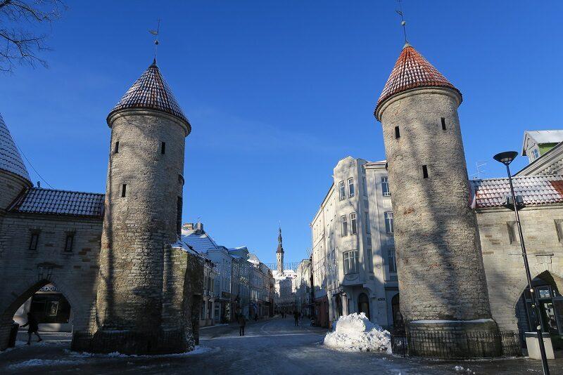 En gammel port i Tallinn