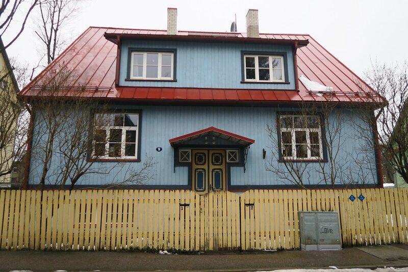 Flot hus i Kalamaja, Tallinn, Estland