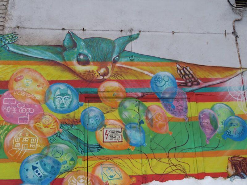 Street art i Tallinn, Estland