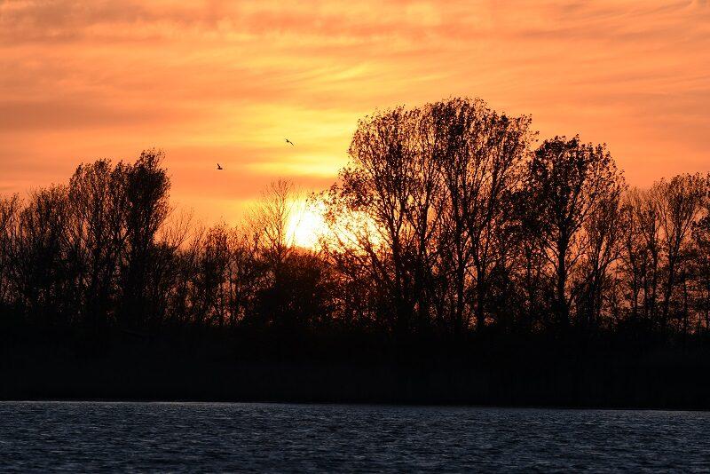 Solnedgang på Askø