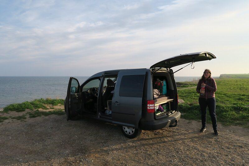 Første tur i Caddy Camperen til Rügen