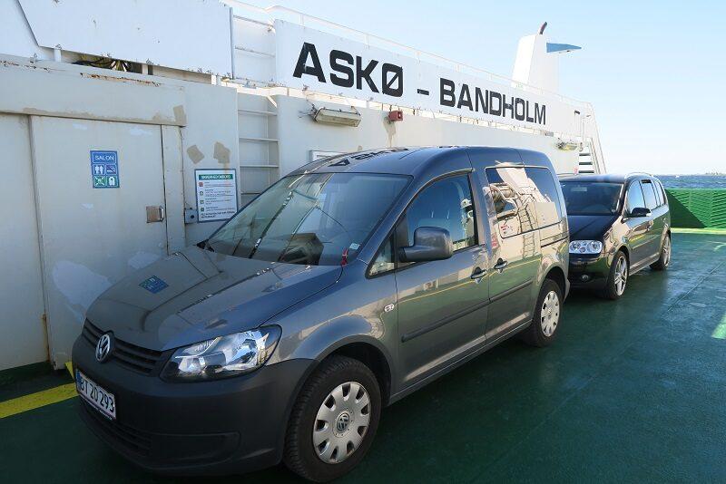 Caddyen på færgen fra Askø til Bandholm