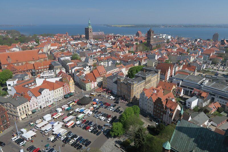 Stralsund set fra oven, Tyskland