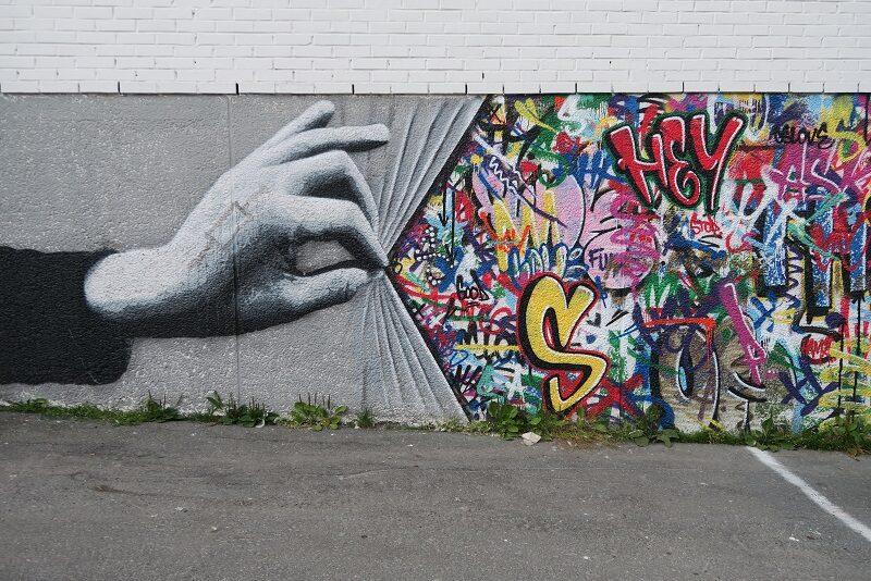 Street art i Tromsø, Norge