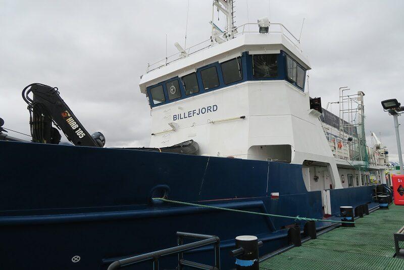 Skibet Billefjord, som skulle tage os til Pyramiden, Svalbard