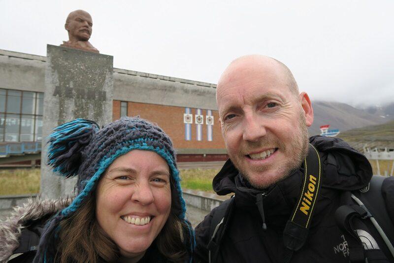 Lenin-selfie i Pyramiden, Svalbard