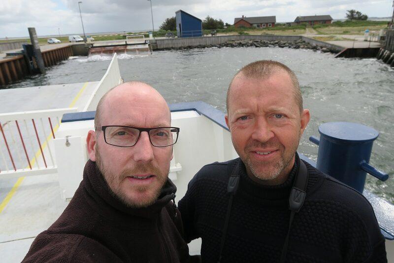 Rasmus og Martin på Venøfærgen
