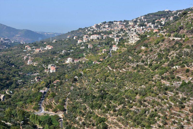 Smukt landskab i Libanon
