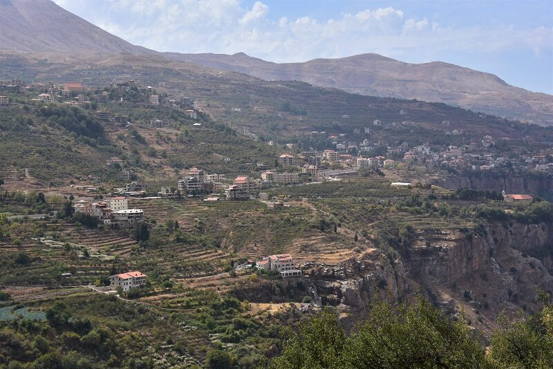 Fantastisk udsigt over Qadisha valley, Libanon