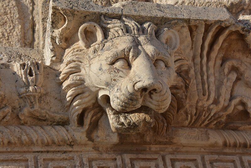 Løvehoved i Baalbek, Libanon