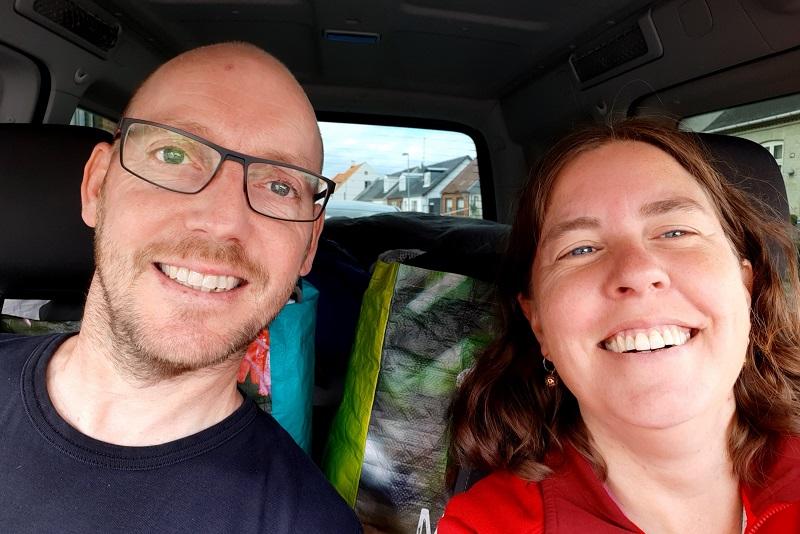 Two Danes On Tour på vej til Sydvestjylland