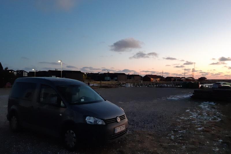 Vintertur på Øster Hurup havn