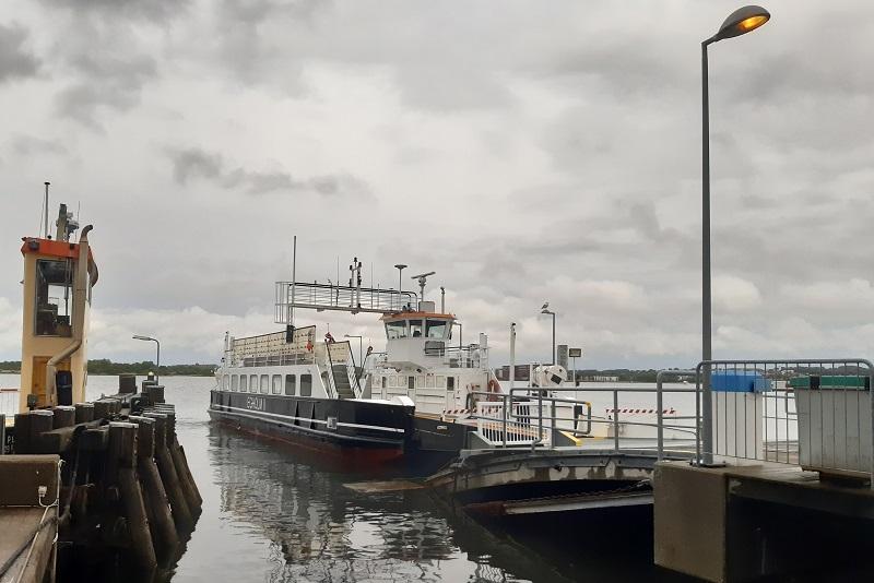 Færgen fra Aalborg til Egholm