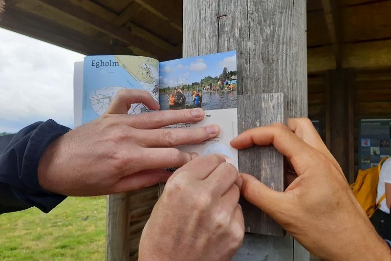 Stempel i ø-passet på Egholm