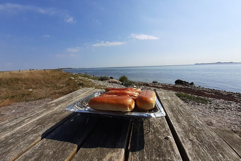 Frokost ved stranden