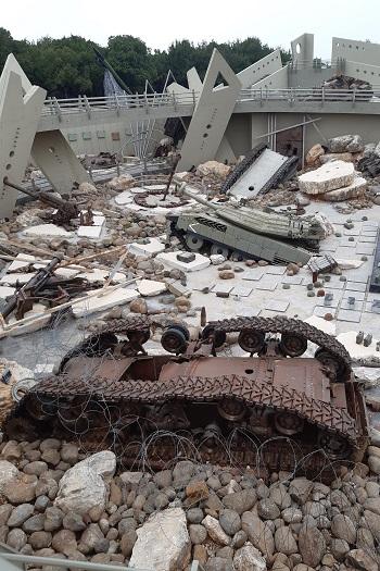 Ødelagte våben på Hizbollah museet, Libanon