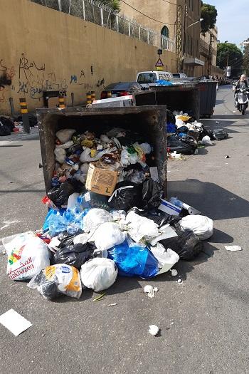 Affaldskontainer under revolutionen